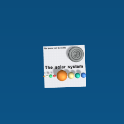 The solar system and a moon