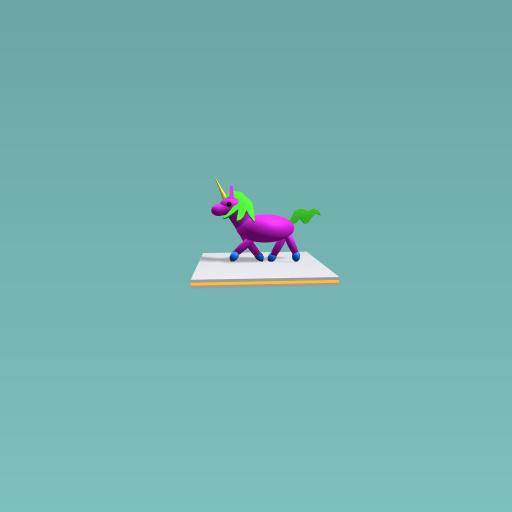 Troting unicorn