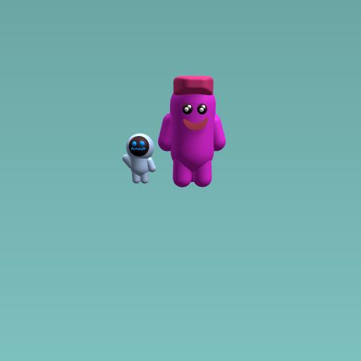 Blob and his robotic pal