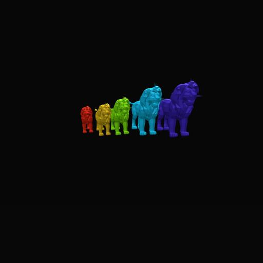 Rainbow Lion King Simba's