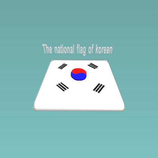 The national flag of korean
