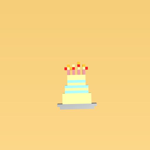 3 teared birthday cake