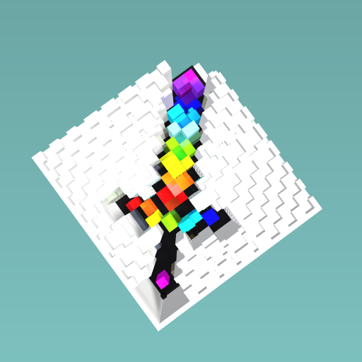 Rainbow minecraft sword
