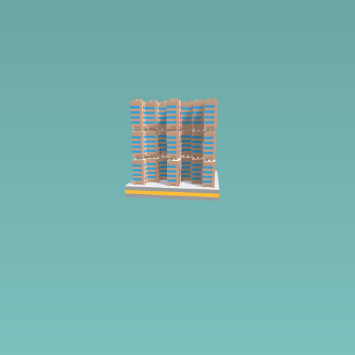 Stacked buildings