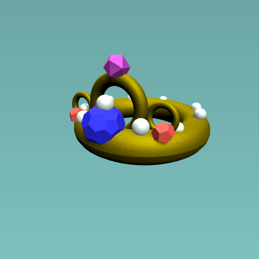 The queen's shiny crown