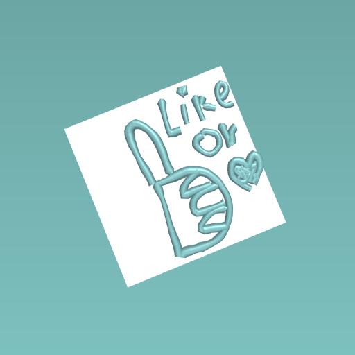 Like or heard