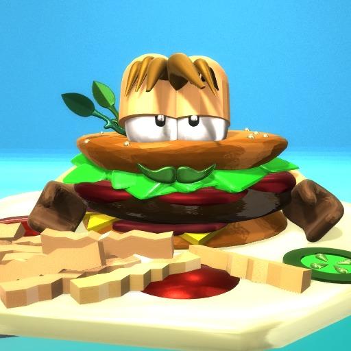 Crazy hamburger