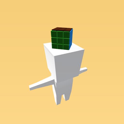 Rubiks cube hat