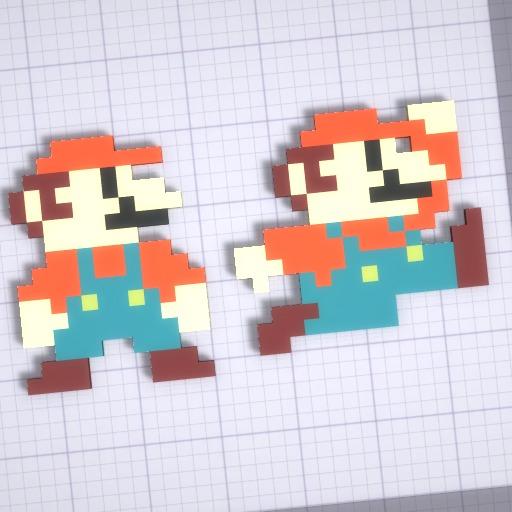 Mario At Pixelart By Pixelart