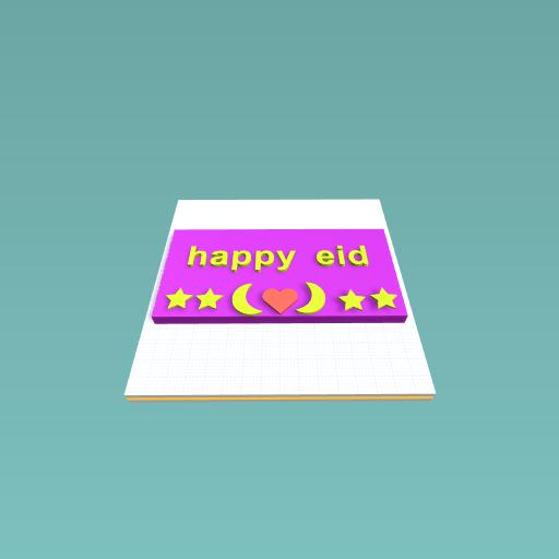 happy eid greeting card