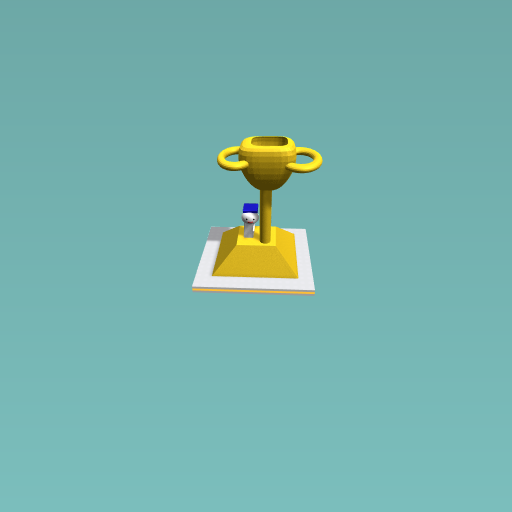 Trophy for graduating.