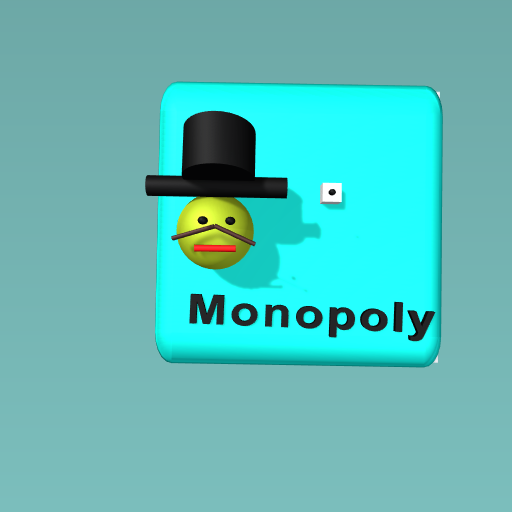 Monopoly man with a dice!
