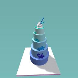 blue flower cake!