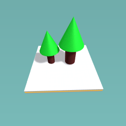 Two little trees