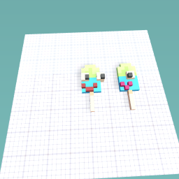 Cyclopse Icypop (right) and Friend (left)
