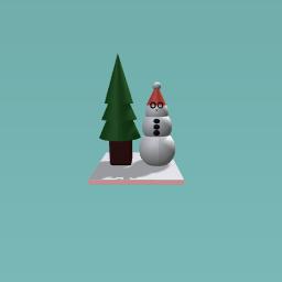 Christmas tree & snownman