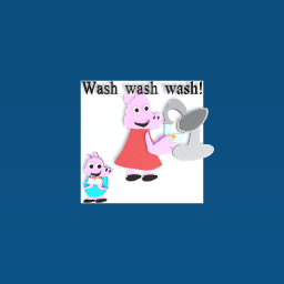 Peppa pig says wash your hands