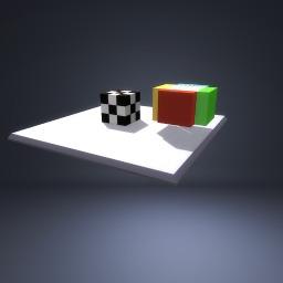 Soccer Ball with Random cube