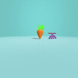 caroot and grapes