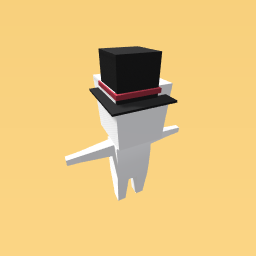 Top hat made only of cubes