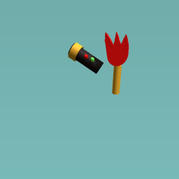 torch and flame