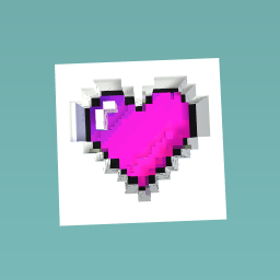 The pixel heart