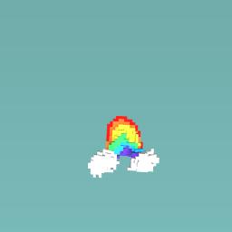 Slopiest rainbow ever