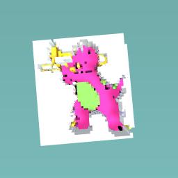 Barney playing trombone