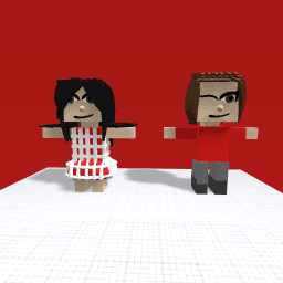 Me and Gilly in our old school uniforms T posing.