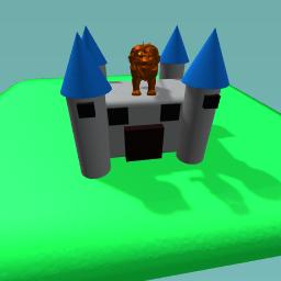 Castle with lion