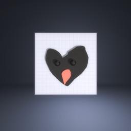 Love heart bird