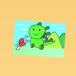 Cute dinosaur!