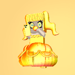 the cute gold girl