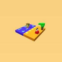 Island or beach