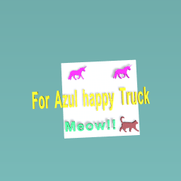 For Azul Happy Truck