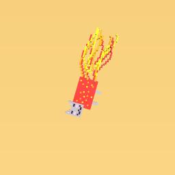 a fire nyan cat