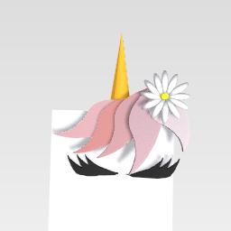 Dreamy unicorn w/ sunflower