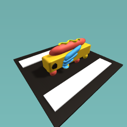THE FLYING HOT DOG CAR!!