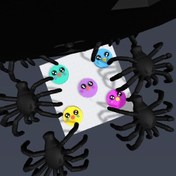 cute monsters and dark of death