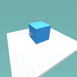 Boring Cube Pendant