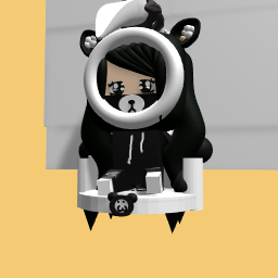 Cute werd panda girl