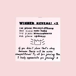 Winner Reveal!