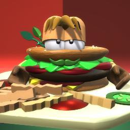 Mr Hamburger - waits for lunch