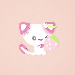 Cute Kawaii Strawberry Kitten! (READ DESC)