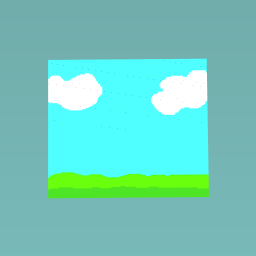 Blue sky and green land