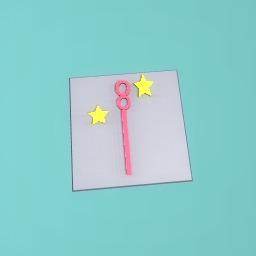 A wand that blows stars yeahhh