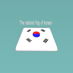 The national flag of korean