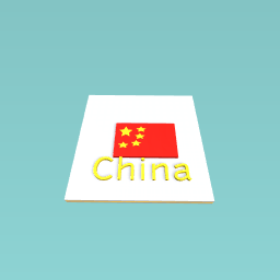 Chinese Flag made by the QUEEN Block Head