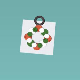 Decorative Button Reef Ornament