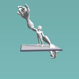 Person reaching high